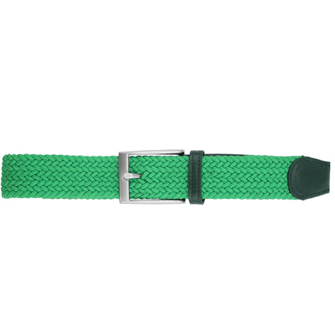 Solid Kelly Green Elastic Belt