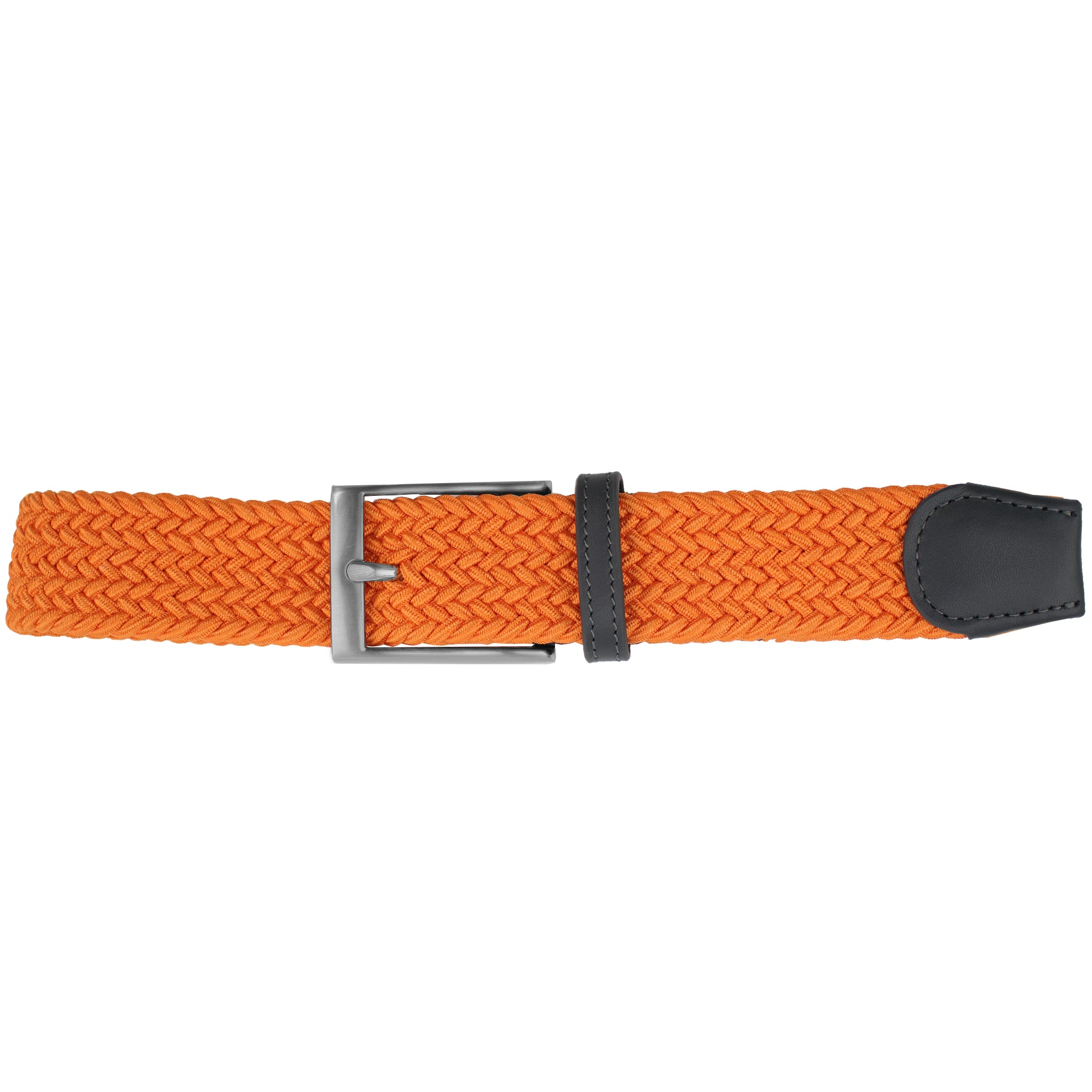 Solid Bright Orange Elastic Belt