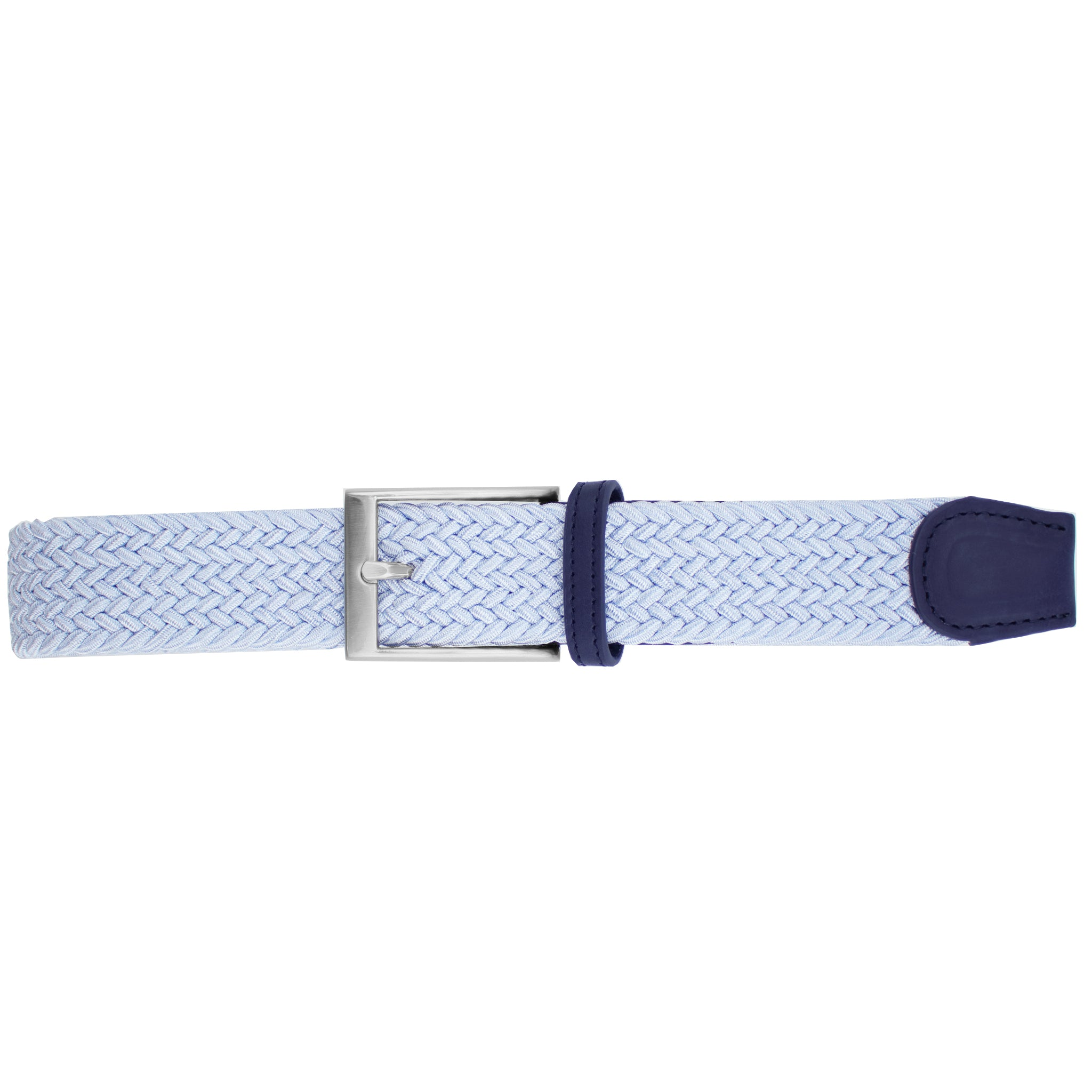 Solid Powder Blue Elastic Belt
