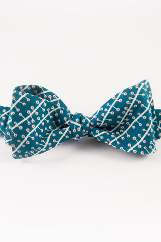 Eyvi Dark Turquoise Self-Tie Bow Tie