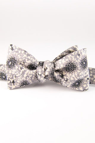 Black Chrysanthemum Self Tie Bow Tie