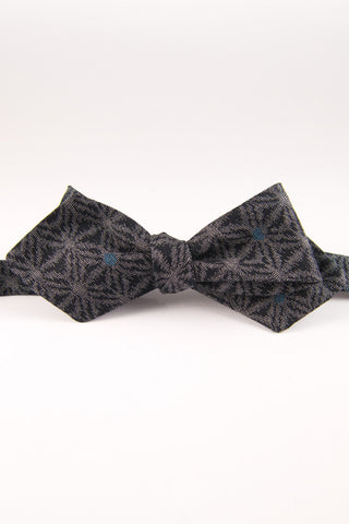 Moroccan Tile Duke Blue Self Tie Bow Tie