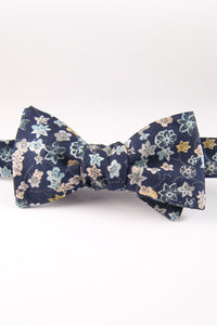 Petrina's Posies Catalina Blue Self Tie Bow Tie