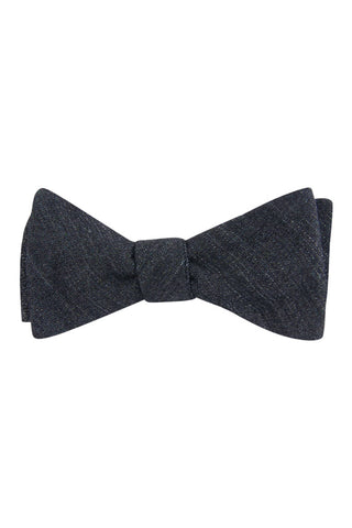 Black Asphalt Self Tie Bow Tie