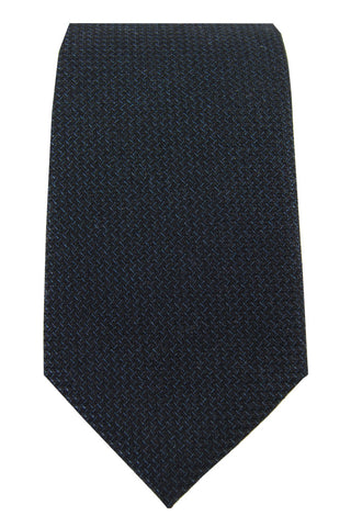 Black & Fine Blue Accent Tie