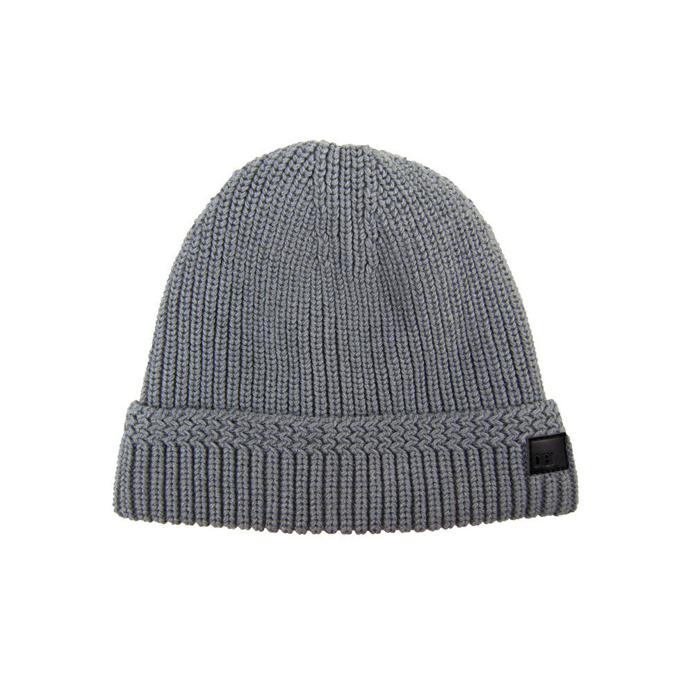 Grey Cable Knit Fur Lined Beanie