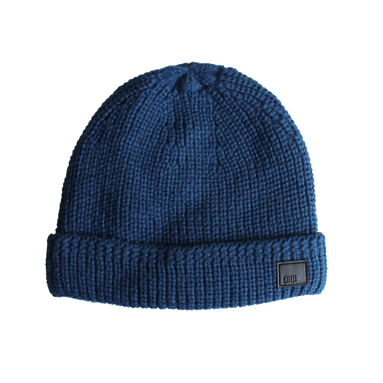 Teal Cable Knit Fur Lined Beanie from DIBI