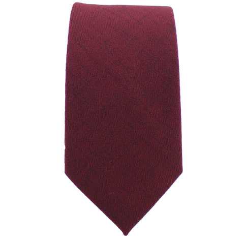 Cotton Burgundy Tie