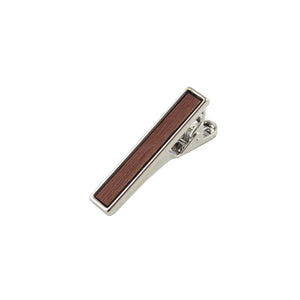 Cumaru Wooden Inlay-Silver Tie Bar from DIBI
