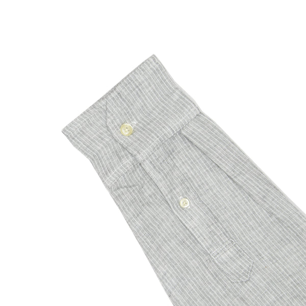 Light Grey Pinstripe Soft Hand Double Cloth