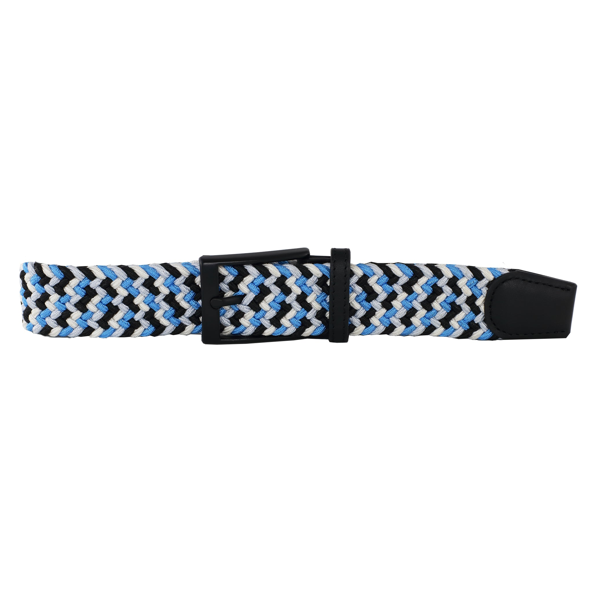 Black, White, Neon Blue, & Silver Elastic Belt