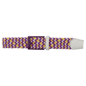 Purple, Gold, & White Elastic Belt