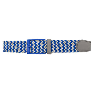 Blue, Grey, & White Elastic Belt