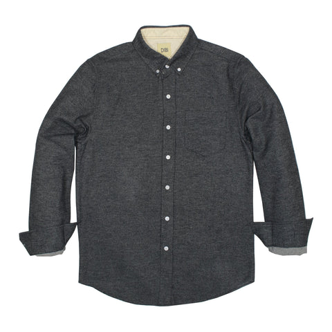 Black Twill Brushed Flannel