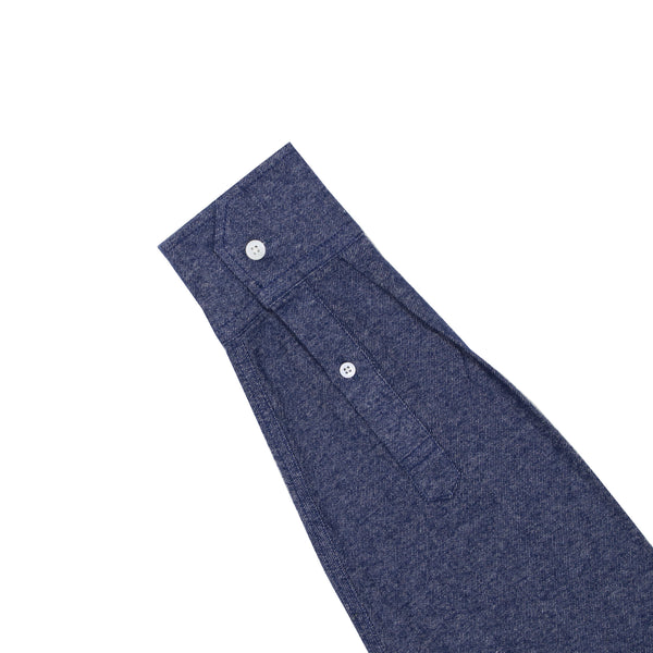 Dark Blue Twill Brushed Flannel