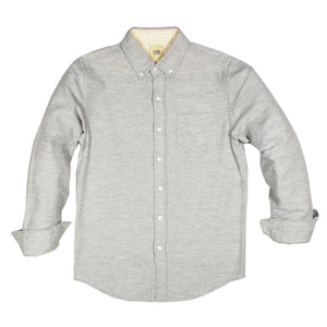 Light Grey Twill Brushed Flannel