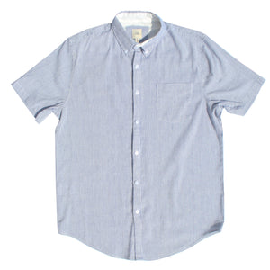 Light Blue & White Pinstripe Cotton Linen Shirt