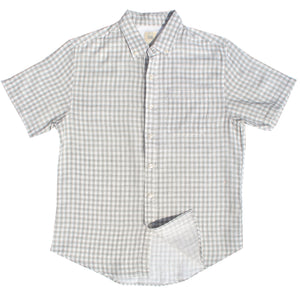 Beige Gingham Double Cloth Cotton Shirt