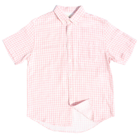 Light Pink Gingham Double Cloth Cotton Shirt