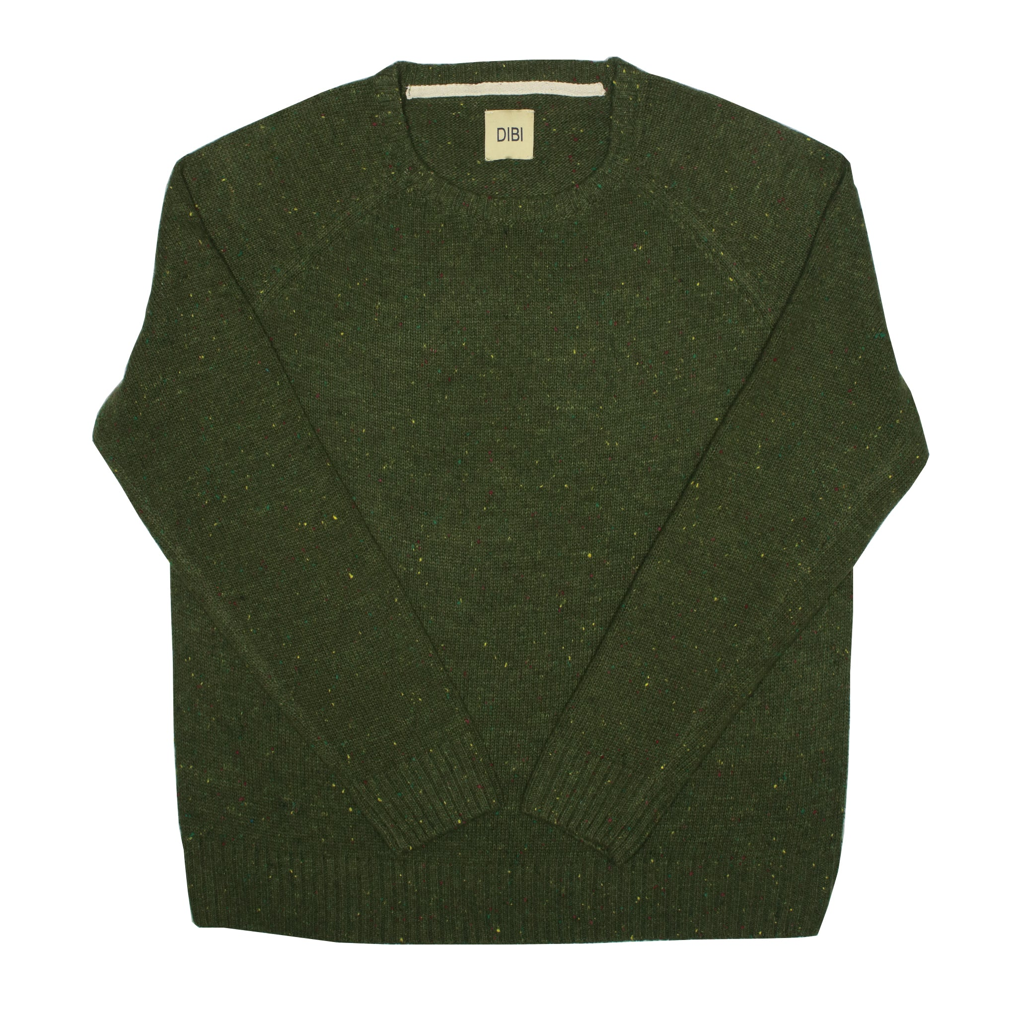 Forest Green Donegal Crewneck Sweater