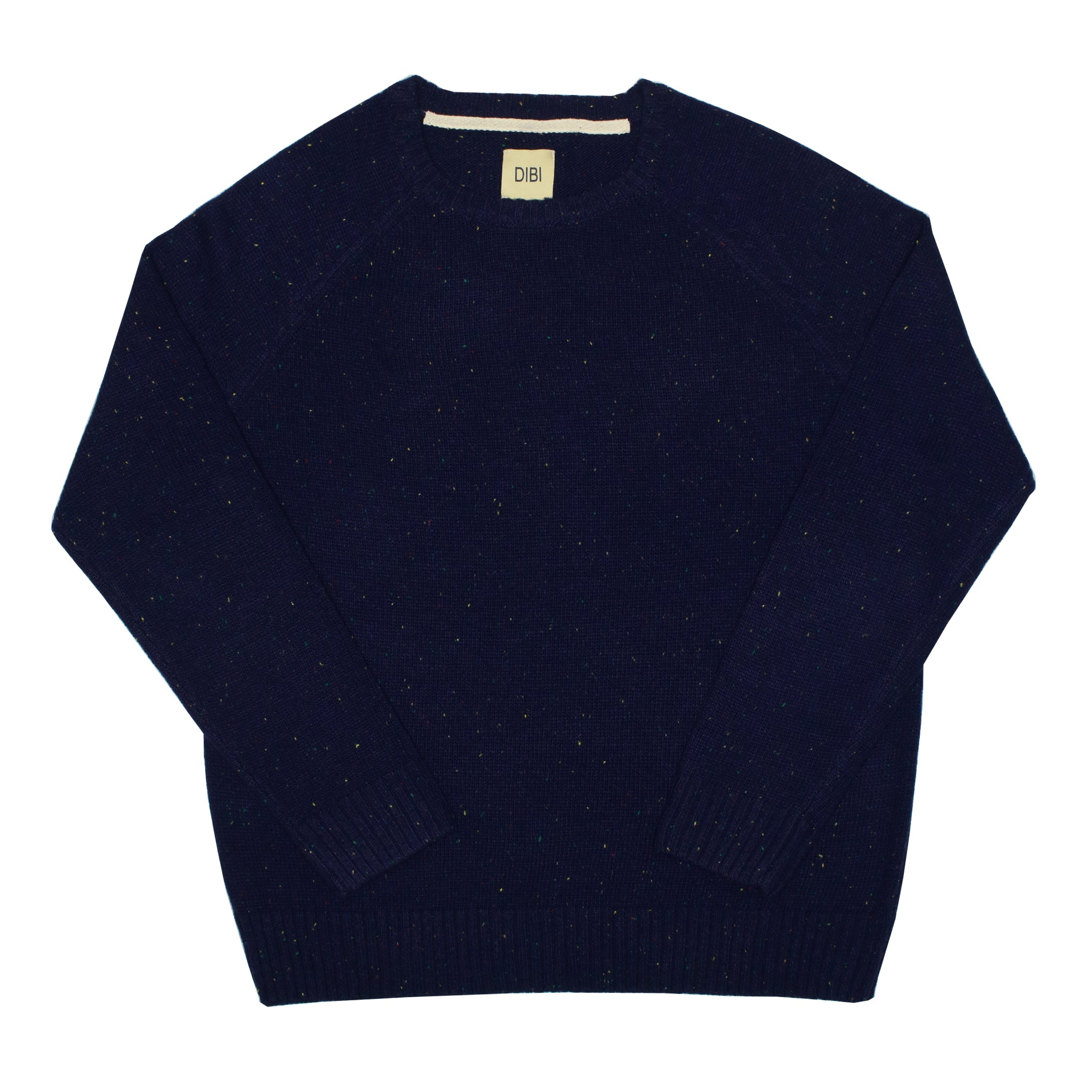 Navy Donegal Crewneck Sweater