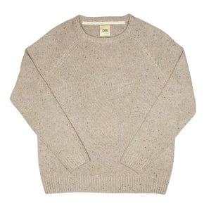 Oatmeal Donegal Crewneck Sweater