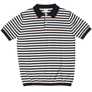 Black & White Striped Polo