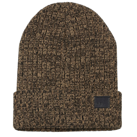 Black & Brown Melange Beanie