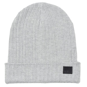 Solid Grey Knit Beanie