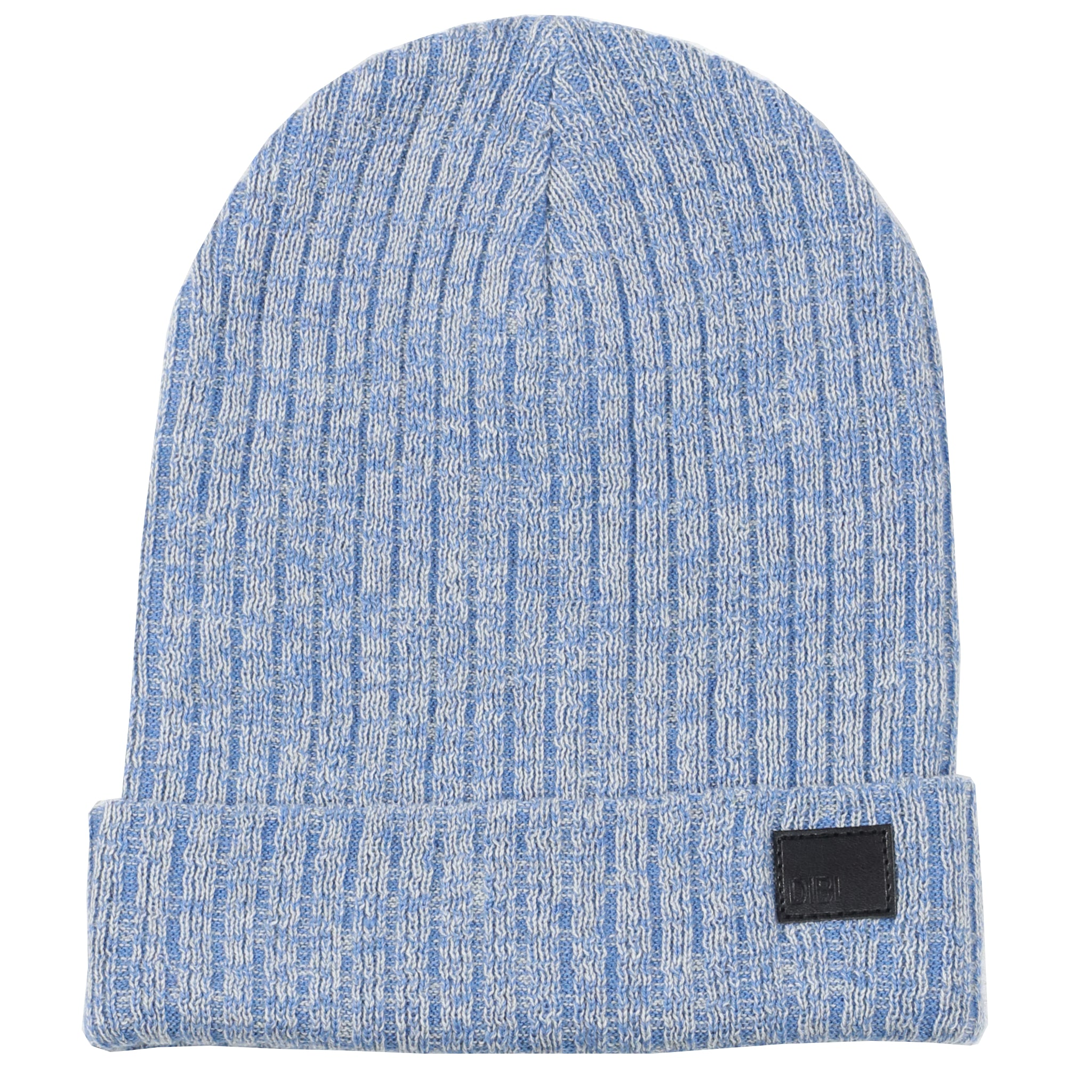 Steel Blue & Light Grey Melange Beanie