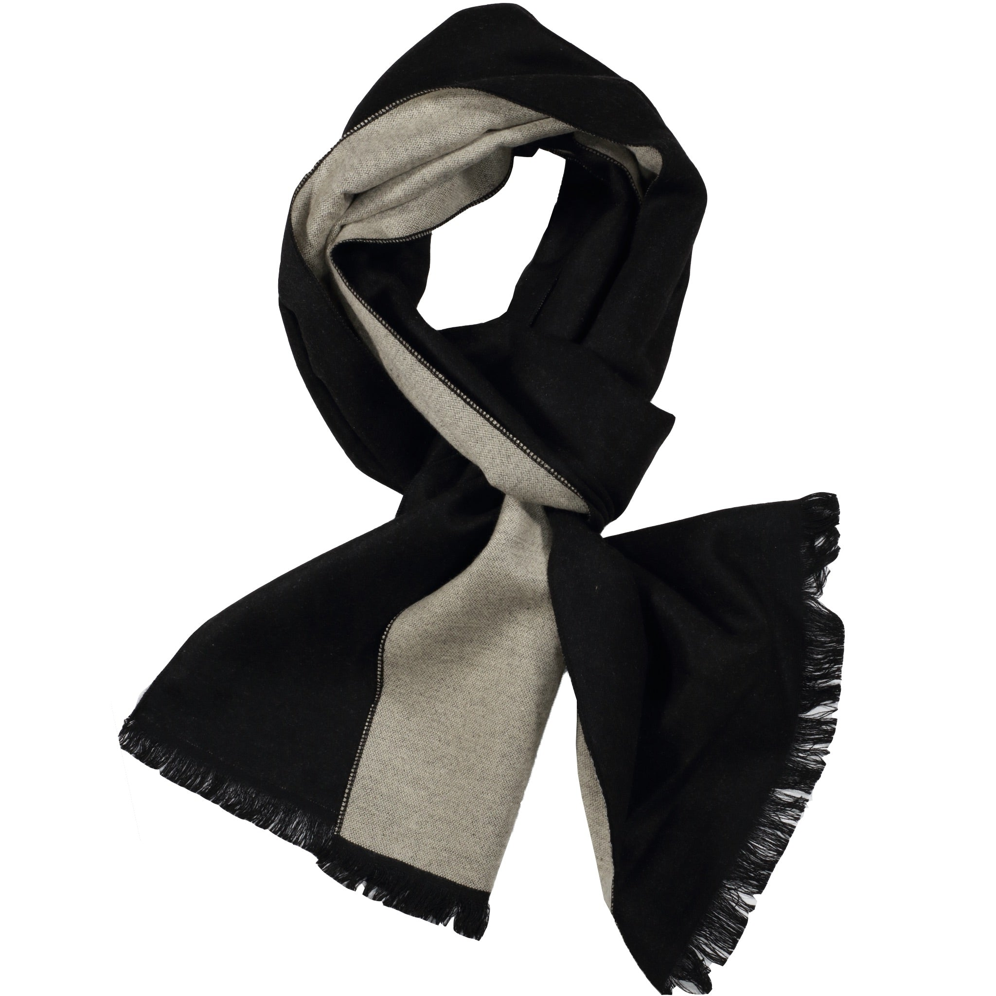 Black & Ivory Solid Scarf
