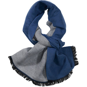 Blue & Grey Solid Scarf