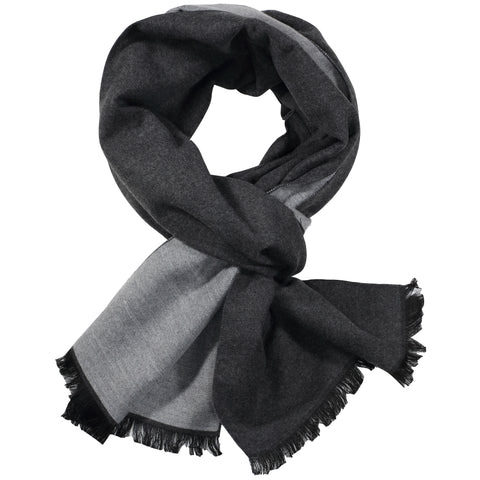 Charcoal & Light Grey Solid Scarf