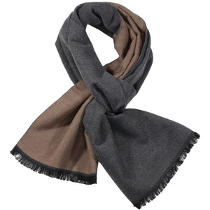 Grey & Brown Solid Scarf