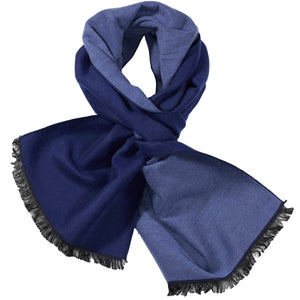 Navy & Blue Solid Scarf