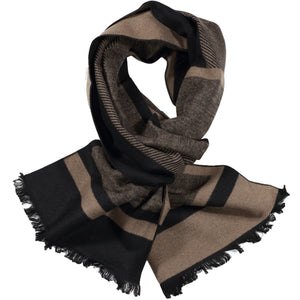 Black & Brown Pattern Scarf