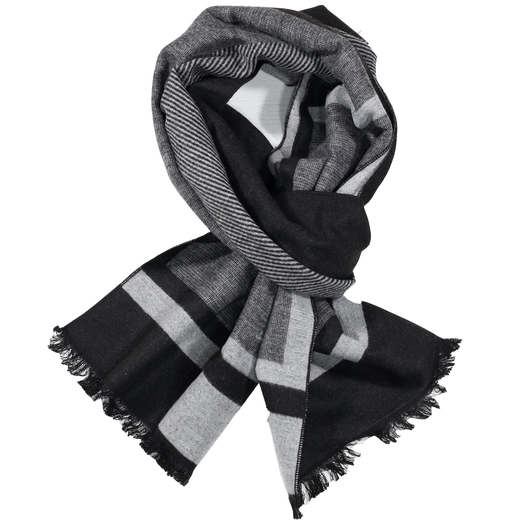 Black & Light Grey Pattern Scarf
