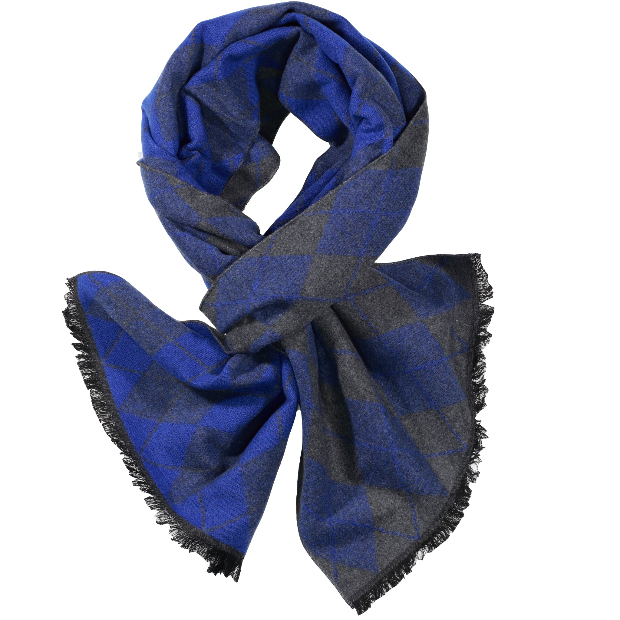 Sky Blue & Grey Blue Diamond Scarf