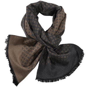 Grey & Brown Mini Diamond Scarf