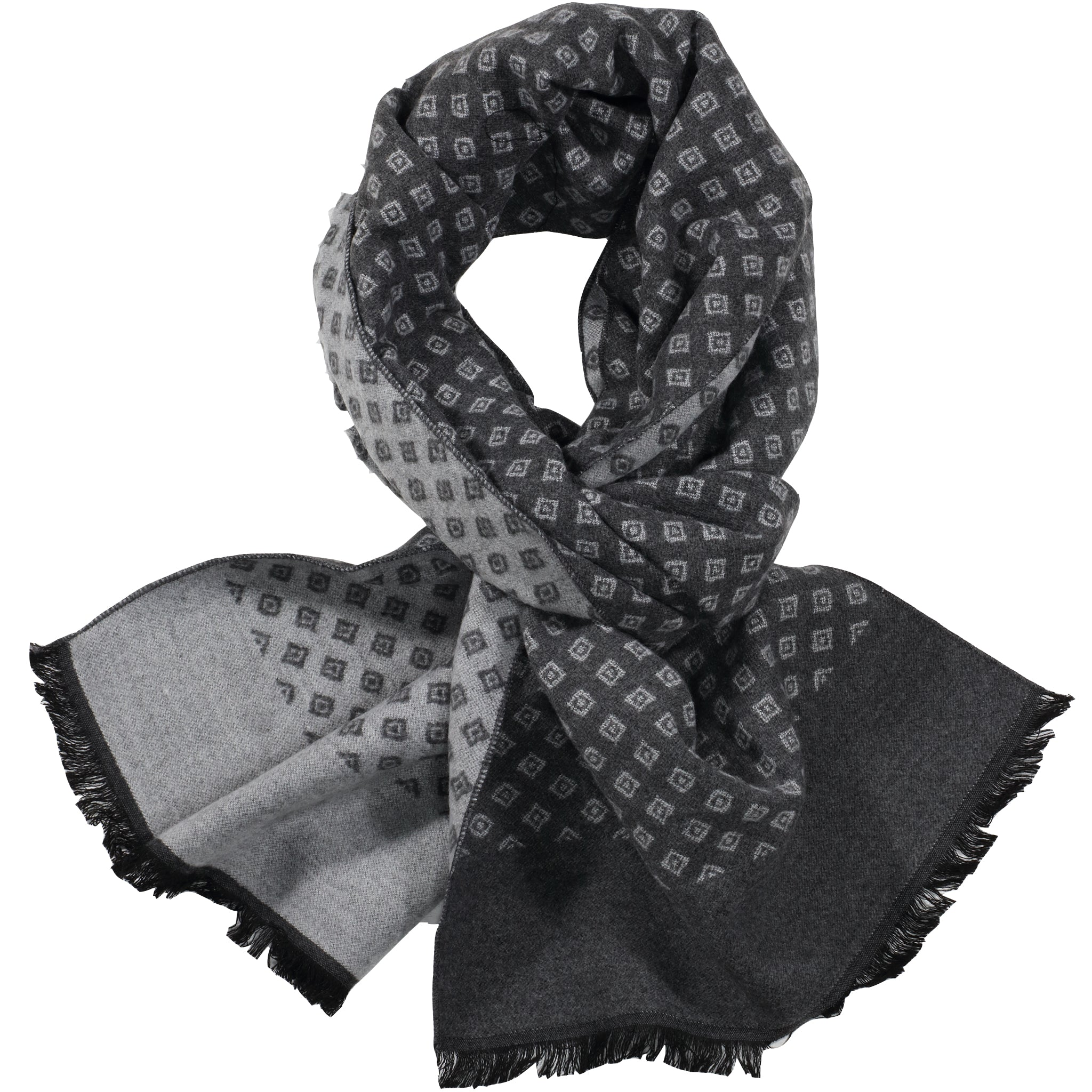 Grey & Light Grey Mini Diamond Scarf