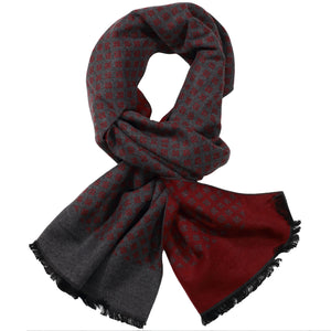 Grey & Red Mini Diamond Scarf