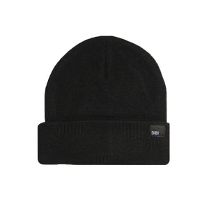 Fleece Lined Black Beanie