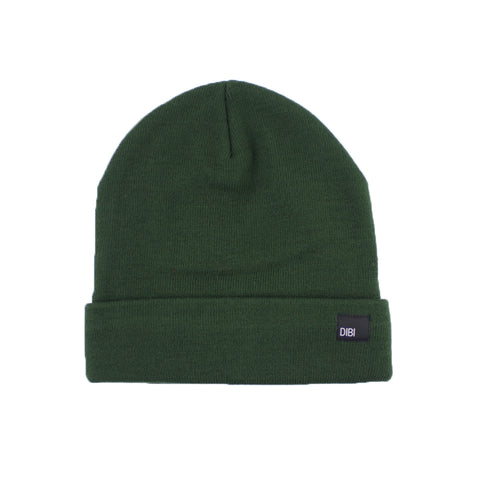Fleece Lined Forest Green Beanie from DIBI