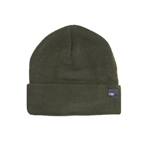 Fleece Lined Olive Beanie