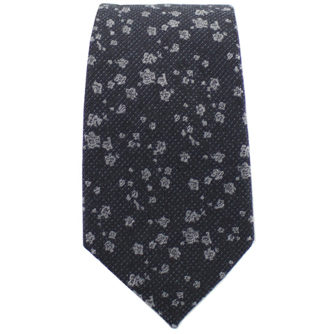 Black & Silver Floral Tie from DIBI