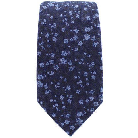 Navy & Light Blue Floral Tie from DIBI