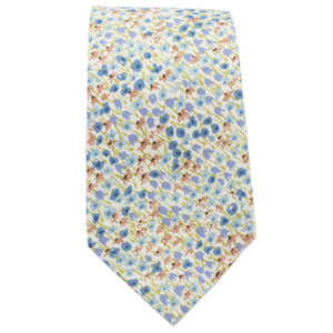 Multi Blue, Gold, & Green Floral Tie