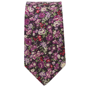 Purple & Plum Multi Floral Tie