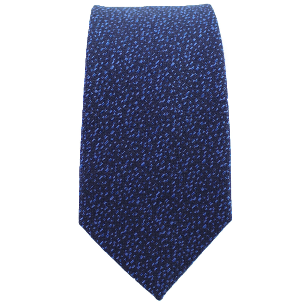 Navy & Sky Blue Heather Tie