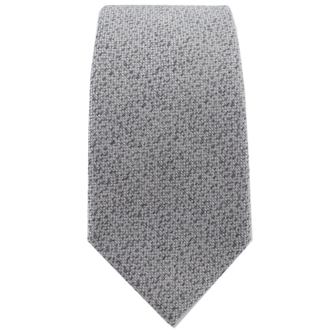 Silver & Charcoal Heather Tie